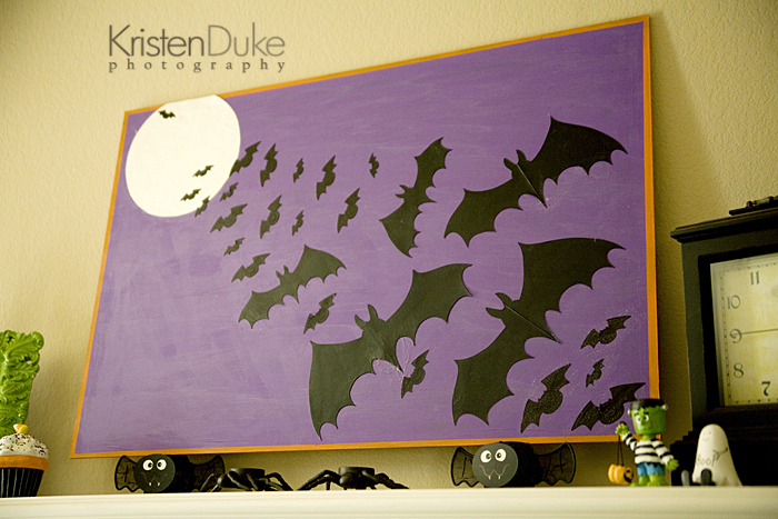 halloween bat painting