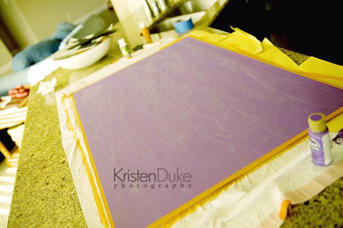 purple painted board