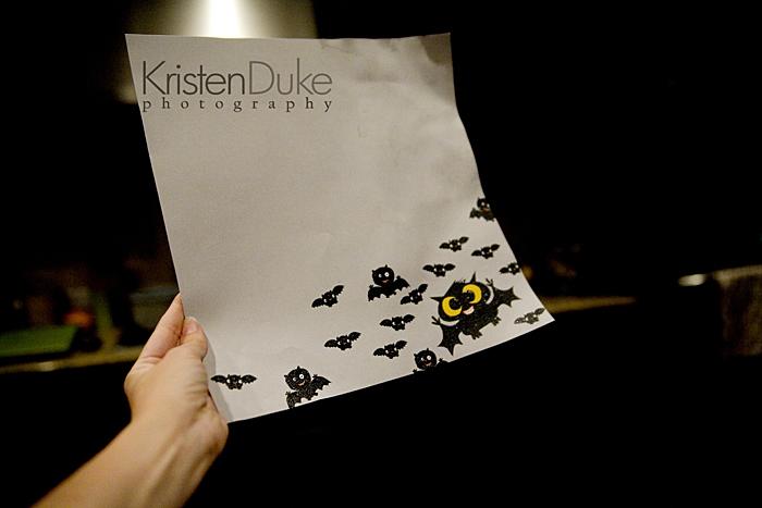 bat scrapbook paper