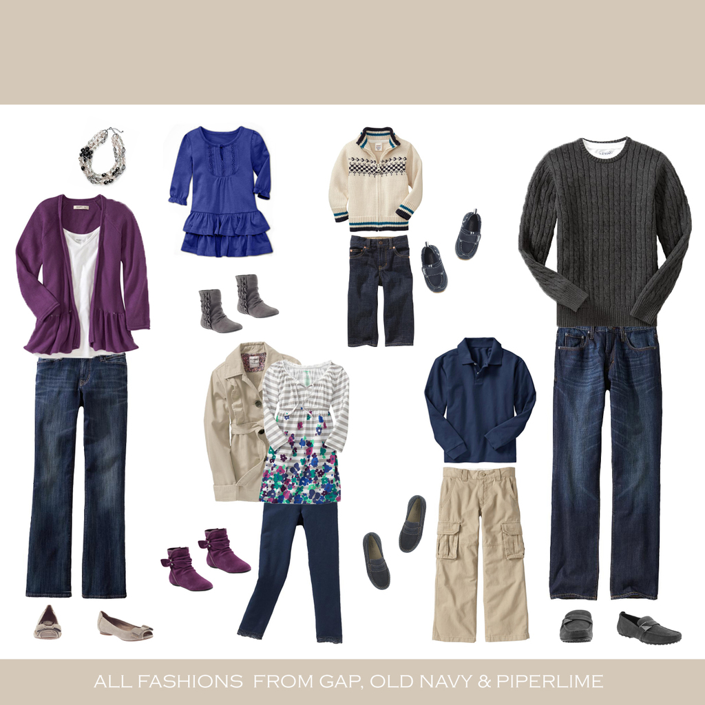 Winter Family Portrait Clothing Ideas
