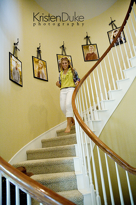 Ideas For Wall Decor On Stairs : Decorating with portraits up the stairs capturing joy