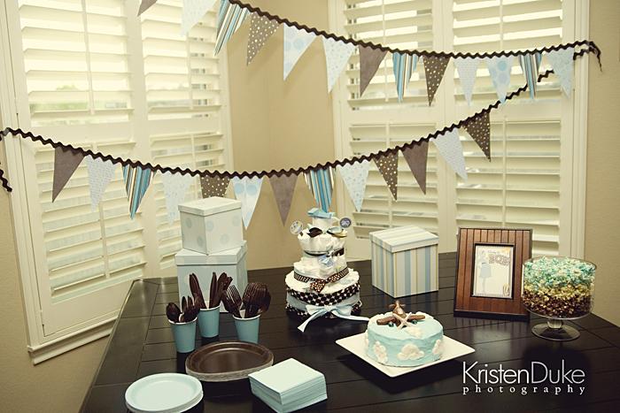 airplane baby shower dessert table