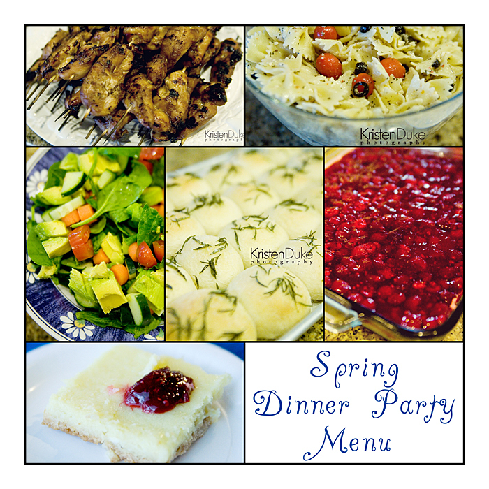 dinner party menues