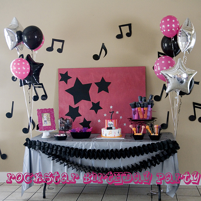 rockstar birthday party