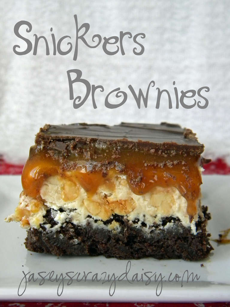 Snickers Brownies by jaseys crazy daisy